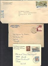 CHINA JAPAN 1940 50's COLLECTION OF 15 COMMERCIAL COVERS INCLUDING POSTAL CARDS