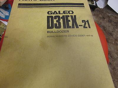 Komatsu D31EX-21 Bulldozer Parts Book Manual s//n 50001 Up