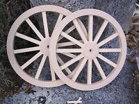 Wagon & Cannon Wheels - 12 Inch Diameter Mdf -mini Wood Civil War Black Powder