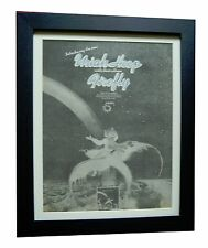 URIAH HEEP+Firefly+POSTER+AD+QUALITY FRAMED+RARE ORIGINAL 1977+FAST GLOBAL SHIP