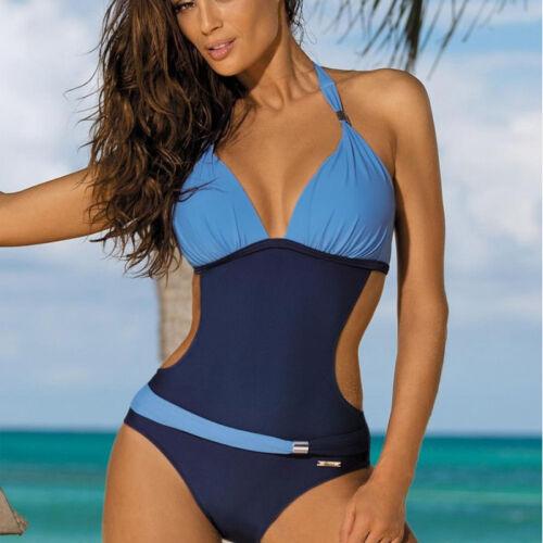 Damen Bikini Monokini Push-up Badeanzug Einteiler Schwimmanzug Bade Mode Tankini