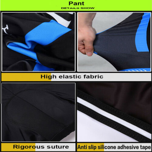Bicycle 2019 Men Summer Cycling Jersey Shirts Bike MTB 9D Pad bib Shorts Set A81