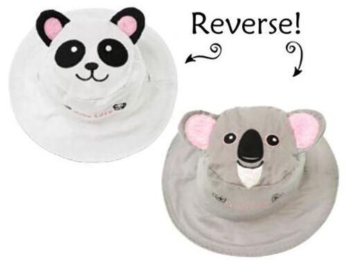 Luvali Panda//Koala Reversible Kids/' Hat Medium 2-4 years
