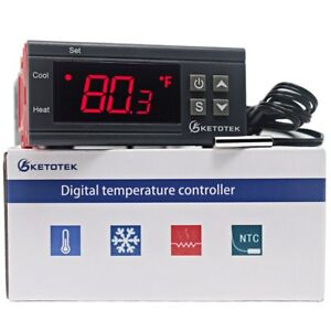 Digital-KT1000-Temperature-Controller-C-F-Thermostat-10A-Two-Relay-Output