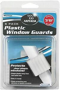 """New Plastic Window Guards armada 65523 Fits 1/"""" rail"""