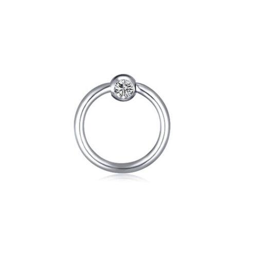 4X Surgical Steel Captive Crystal Septum Hoop Ring Lip Ear Nose Eyebrow Piercing