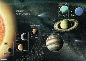 INDIA-2018-Solar-System-Space-Astronomy-Earth-Mars-Venus-Minisheet-MNH