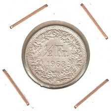 Switzerland: 1/2 Franc 1963B XF
