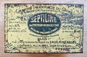 Ancienne-Boite-Septiline-Pharmacie-Docteur-Narodetzki-Vintage-Collection-Deco
