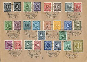 Alibes Mi. Nº 911-937 Entièrement Sur LETTRE document avec SST Tegernsee 28.9.46-afficher le titre d`origine OWcWtJcM-07165057-633806496