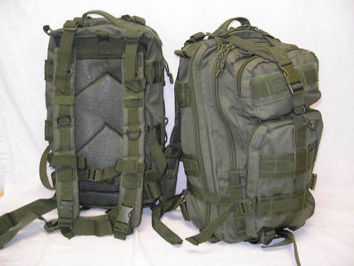 NEW - 3-Day Military Tactical Assault MOLLE Backpack - OD Grün Olive Drab