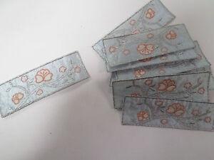 DéVoué 10 X Bleu Motif Floral Fleurs Jardinage Album Livre Fabrication Carte Artisanat Motifs # 18a85-afficher Le Titre D'origine
