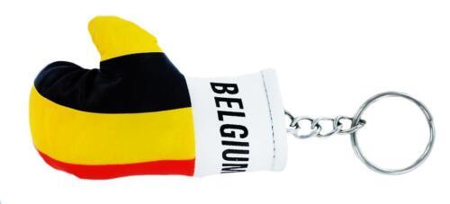 Porte clé clés clefs Drapeau BELGIQUE BELGE BELGIUM  gant de boxe FLAG