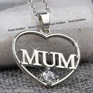 MUM-Heart-Crystal-Necklace-Silver-Xmas-Jewellery-Gifts-For-Her-Mother-Mom-Women