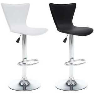 Détails sur vidaXL 2x Chaise de Bar Pivotante Similicuir Bistrot Tabouret Haut BlancNoir