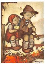 "vintage  blank unused  greeting cards  ARS SACRA Hummel""shepard music ""973"""