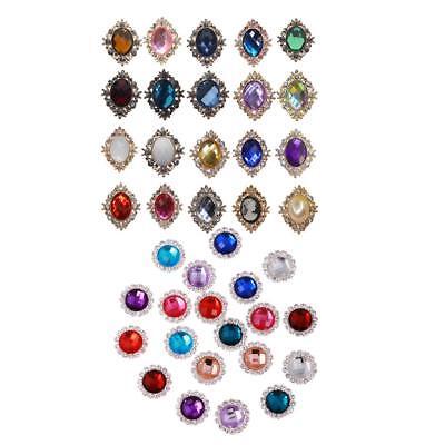 10pcs Oval Rhinestone Pearl Wedding Rhinestone Button DIY Buckle Accessories