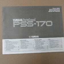 YAMAHA PORTASOUND PSS-170 Owner's Guide