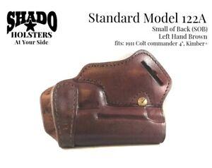 SHADO-Leather-Holster-Model-122A-Left-Hand-Brown-SOB-fits-1911-Colt-Commander-4-034