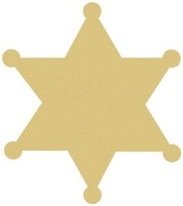 Image Is Loading Sheriff Star Unfinished Wood Shape Cut Out Variety