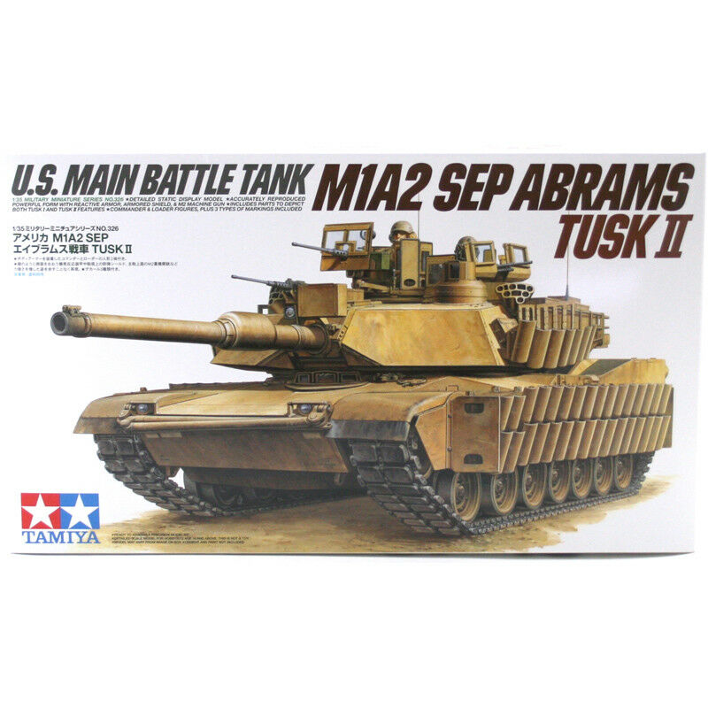 Tamiya M1A2 Sep Abrams Tusk II (Scale 1 35) Model Kit 35326 NEW