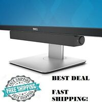 Dell Usb Soundbar For Monitor Tv Pc Speaker Home Audio System Stereo Sound Bar