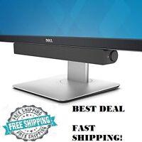 Dell Usb Soundbar For Monitor Tv Pc Speaker Home Audio System Stereo Sound Bar