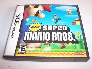 Details about New Super Mario Bros  (Nintendo DS) Lite DSi XL 3DS 2DS  w/Case & Manual