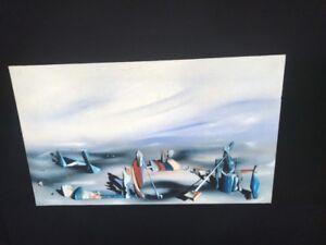 "Judy Chicago /""George Sand "" Installation Art 35mm Glass Slide"