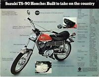 1970 Suzuki Ts-90 Honcho Motorcycle Sales Brochure/flyer (reprint) $5.00