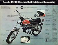 1970 Suzuki Ts-90 Honcho Motorcycle Sales Brochure/flyer (reprint) $5.00