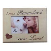 Dog Speak Pet Memorial Picture Frame always Remembered Forever Loved