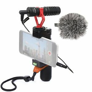 Movo-Smartphone-Video-Rig-w-Microphone-Grip-amp-Strap-for-iPhone-8-X-amp-More