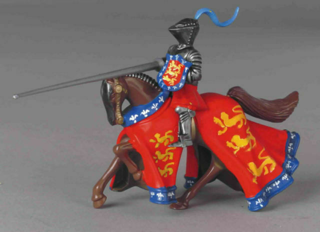 W Britains 08416 - Earl of Huntingdon Mounted Knights with lance NEW set of 3