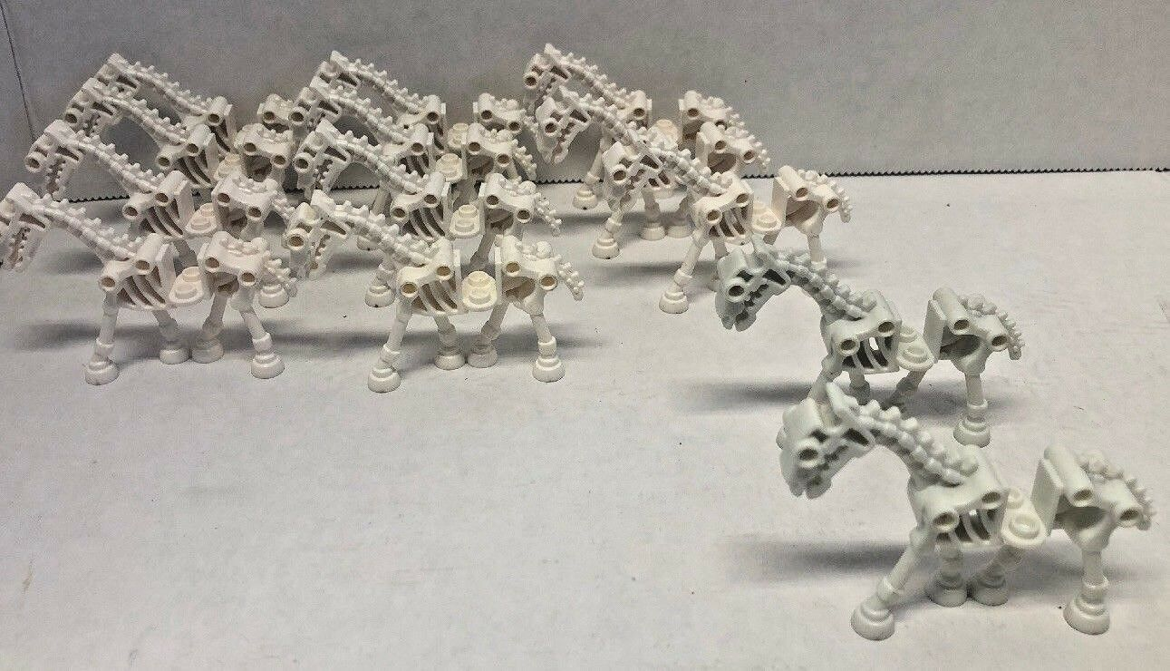 Huge Lot of 13 Lego Skeleton Horses Lot minifigs Animal Army 2 glow in the dark