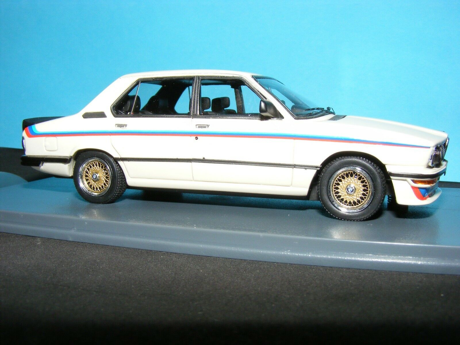 BMW M535i (E12) 1977 New Neo White with M series decal set 1 43rd. Scale Rare