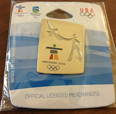 Vancouver 2010 Silver Man with Eagle Olympic Pin