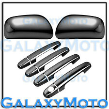 09-13 Toyota Corolla Black Chrome Mirror+4 Door Handle No PSG Keyhole Cover