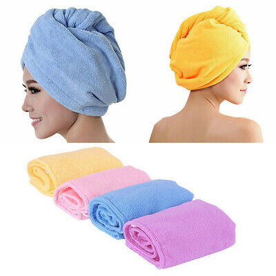 LARGEMAGIC QUICK DRY HAIR TURBAN TOWEL MICROFIBRE HAIR WRAP BATH TOWEL CAP HAT