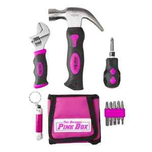 11 piece tool set kit box pink women ladies girls female for Ladies gardening tools gift set
