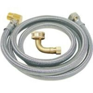 B&K 3/8 In. x 3/8 In. x 72 In. Stainless Steel Dishwasher Connector 496-203