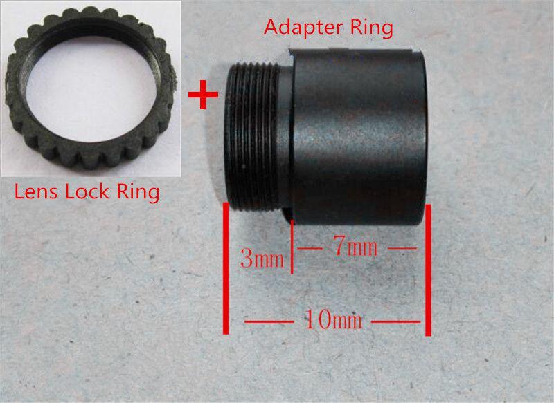 7mm S mount MTV Lens Extension Adaptor Ring /& Len Lock for M12 X0.5 Lens CCTV