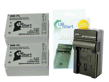 2x Battery+Charger Canon Camera NB-7L CB-2LZ CB-2LZE PowerShot G10 G11 G12 SX30~
