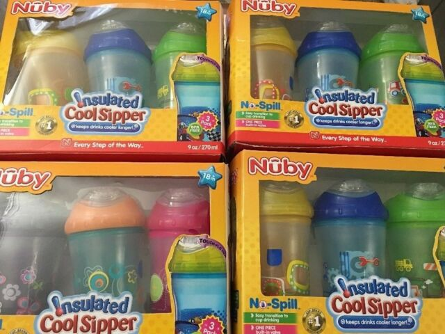 Nuby Insulated Cup Sipper Baby Toddler Drinking Container Beaker 270ml 18m+