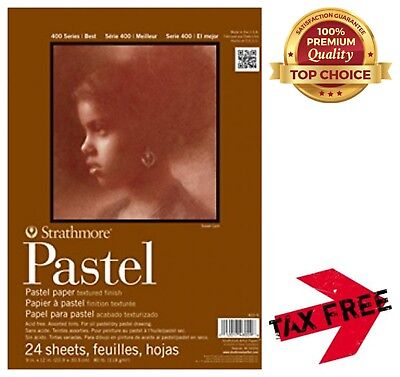 9x12 Glue Bound Strathmore 400 Series Pastel Pad 24 Sheets 2-Pack Assorted Colors