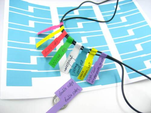 Blank imperméable double face imprimable écrire sur cable Autocollant Cable Tie Marker