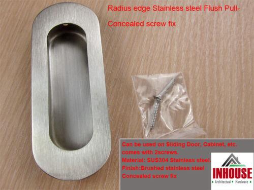 Flush pull handles sliding door pull cabinet pull satin black polished 120x40mm