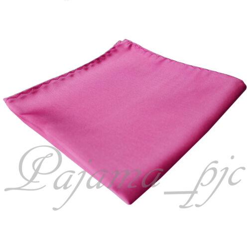 French Rose PINK Micro Fiber Solid Handkerchief Pocket Square Hanky Wedding