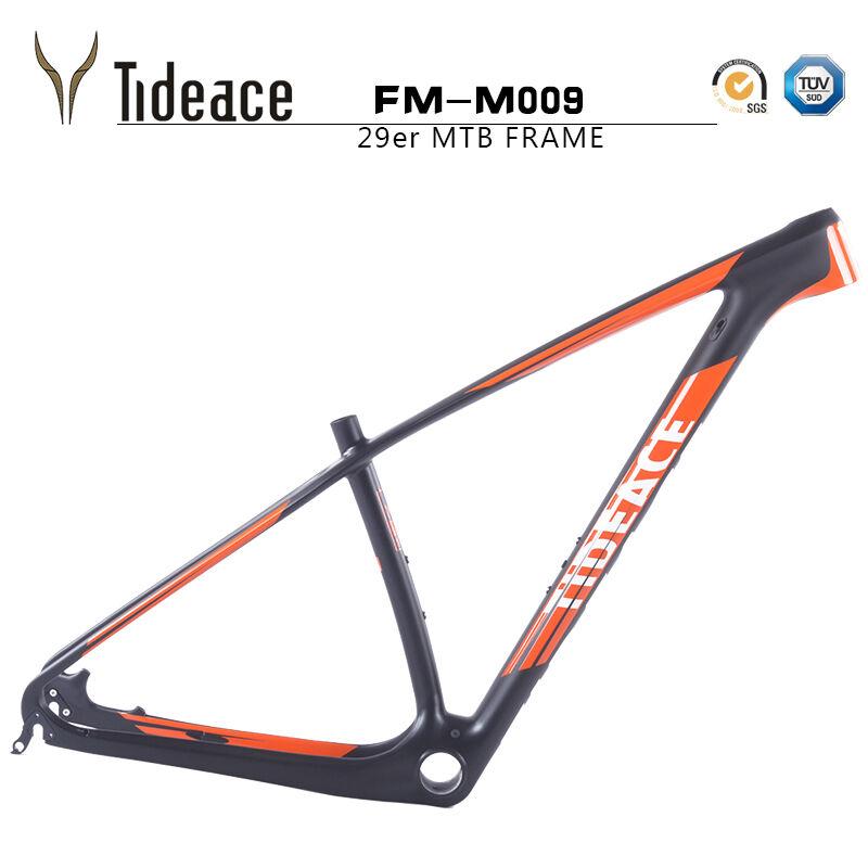 Tideace naranja Decals Cochebon fiber mountain bike fotogramas 29er pf30 MTB Bike Frame