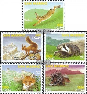 Postfrisch 1999 Einheimische Säugetiere Kataloge Werden Auf Anfrage Verschickt kompl.ausg. San Marino 1845-1849